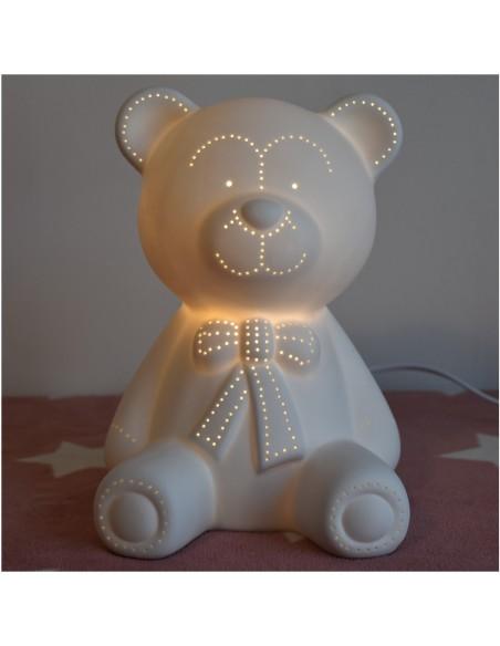 Lampe H25cm Ourson Enfant Chevet De j34Aq5RL