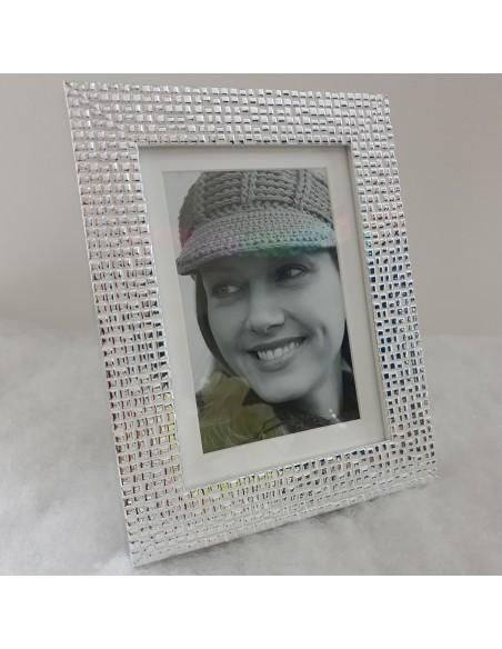 Cadre photo Argent gaufré 13x18 cm