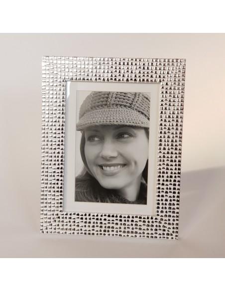 Cadre photo Argent gaufré 10x15 cm