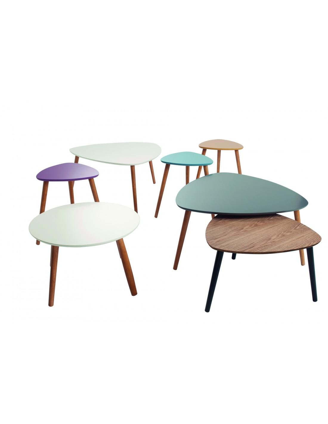 Audace Deco - Table basse Nomad design scandinave blanc et ...
