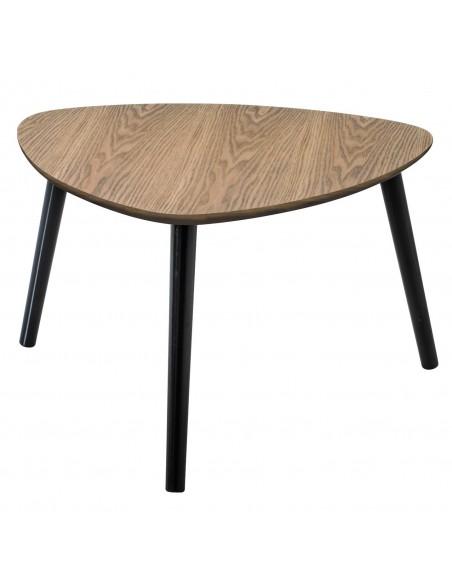 Table basse moyen modèle 60x60xH35 design scandinave bois