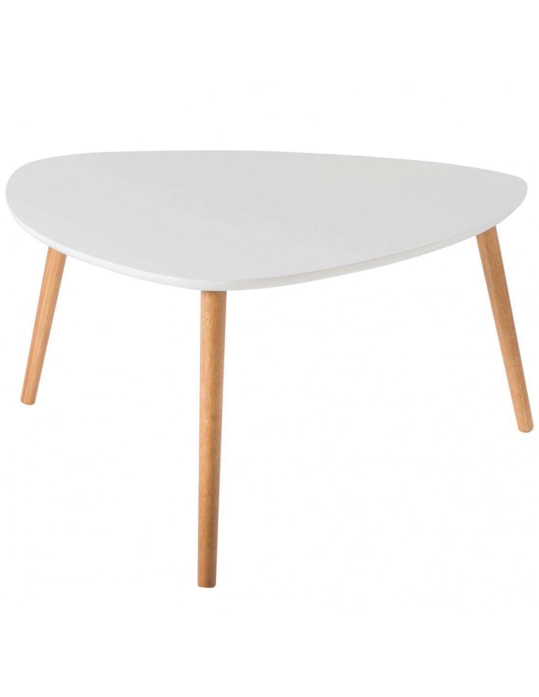 Audace Deco - Table basse Nomad design scandinave blanc et chêne, Livraison  gratuite