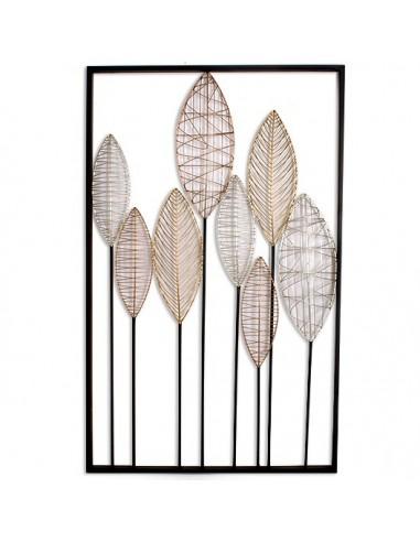 Tableau Deco Design Metal.Tableau Decoration Murale Metal Feuilles 50 8x2xh81 3 Cm