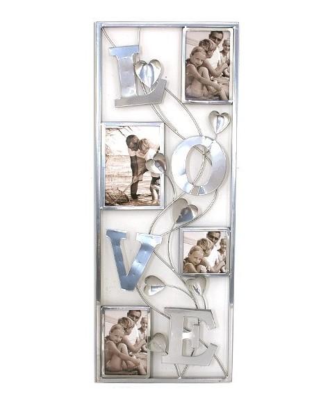Tableau décoration murale multi vues métal Love 30 x 77 cm, Livraison gratuite