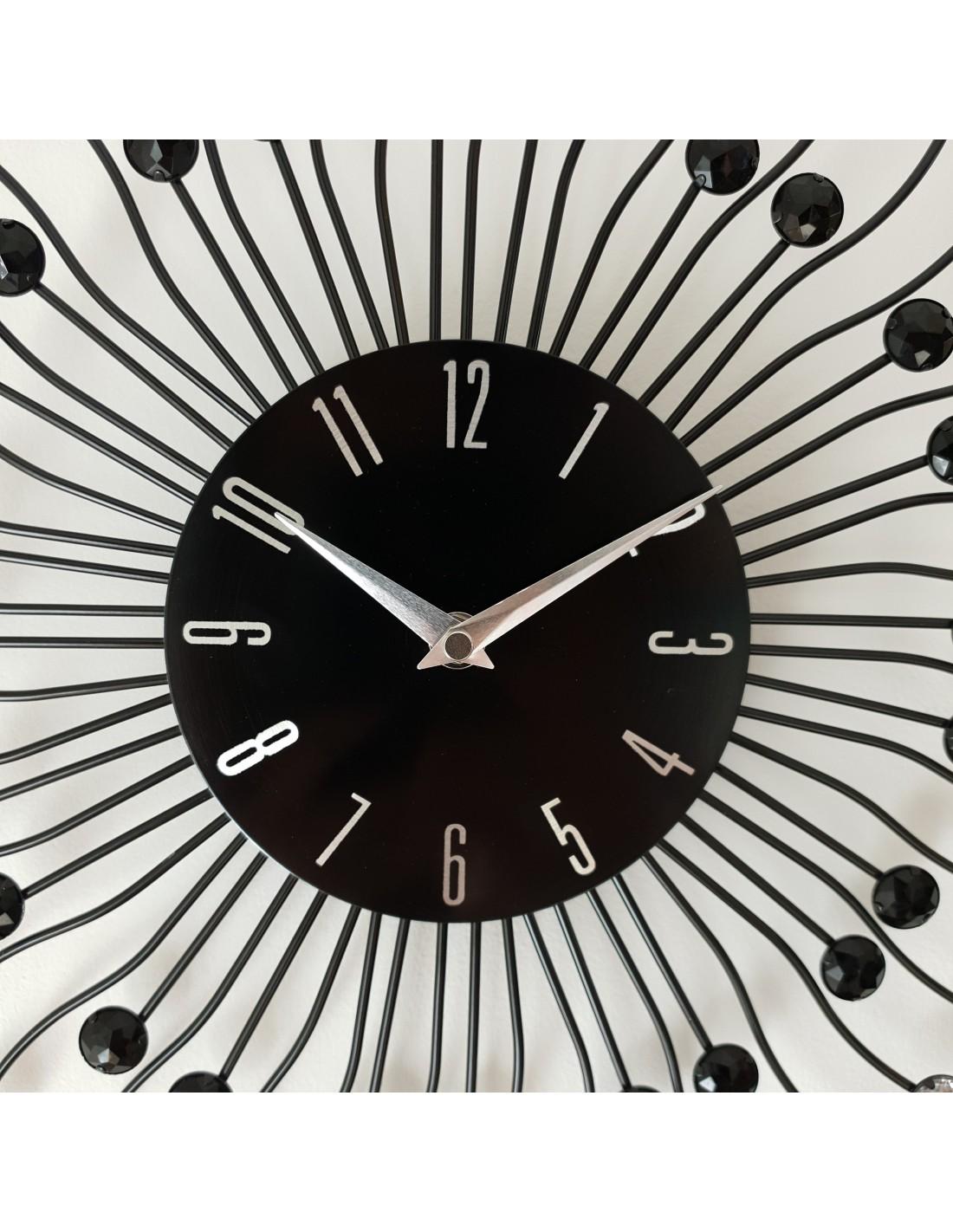 horloge murale design moderne strass