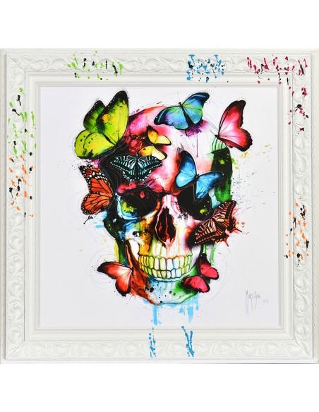 Tableau Murciano 38x38 Skull Butterfly, Sur commande