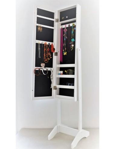 Miroir Psyché Porte Bijoux Blanc Armoire à Bijoux Sur Pied Rangement Bijoux Blanc Livraison En France Incluse