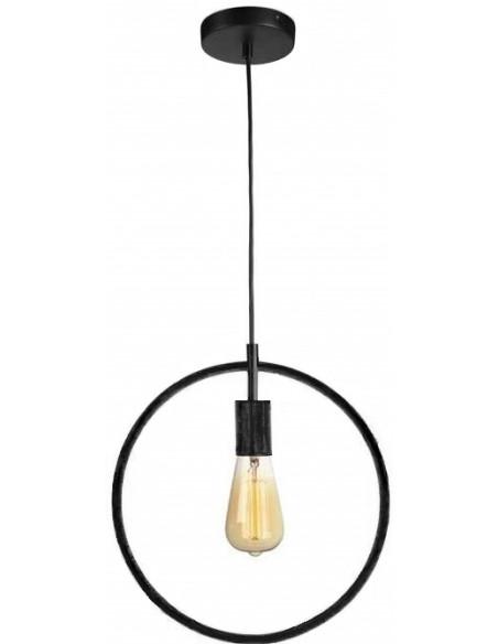 Suspension industrielle vintage noir Anneau