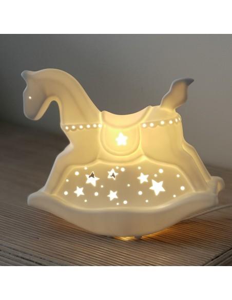 Lampe de chevet enfant Cheval à bascule H22cm