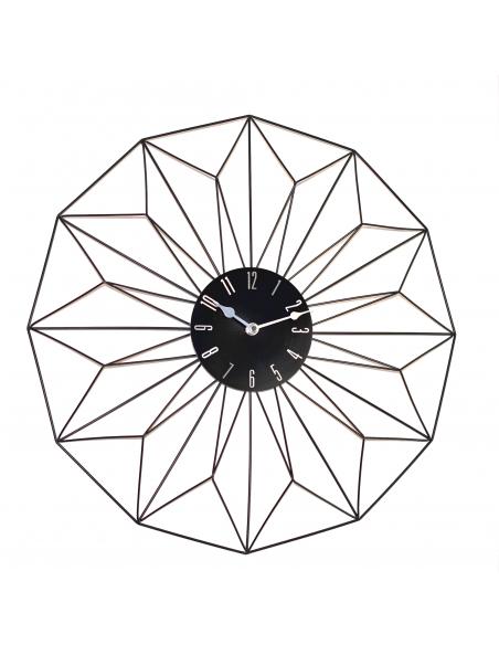 Horloge murale Graphique noir en métal D.49,5 cm