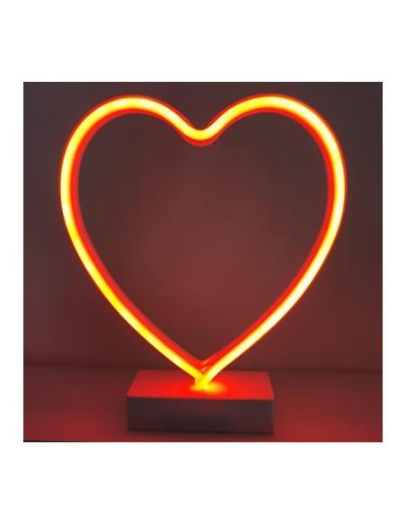 Lampe Néon Led Coeur LED H28cm
