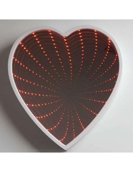 Miroir mural Coeur 2 en 1 LED H25cm